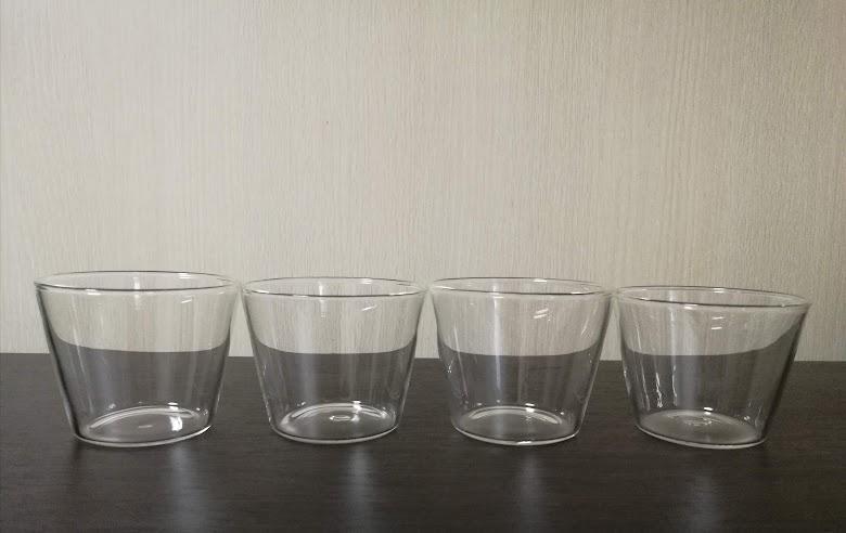セリア耐熱ガラス製カップ 複数