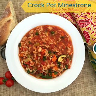 Crock Pot Minestrone #FallForFlavor -- Giveaway Included