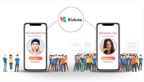 visual of how Kicksta works