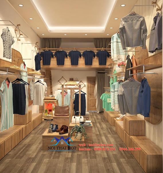 thiết kế cửa hàng thời trang cổ điện và hiện đại