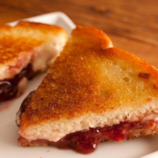Grilled Jam and Cheese Sandwich.