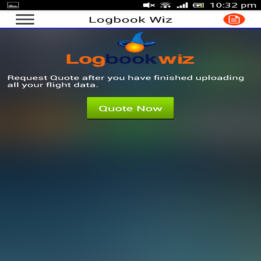 Logbookwiz- screenshot
