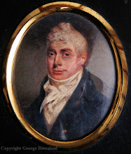 Photo: A painted miniature of Wallace's father, Thomas Vere Wallace aged 35. Property of the Wallace family. Copyright A. R. Wallace Memorial Fund.