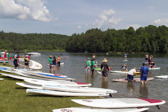 Photo: Paddle board festival at Waterbury Center State Park by Karalyn Mark