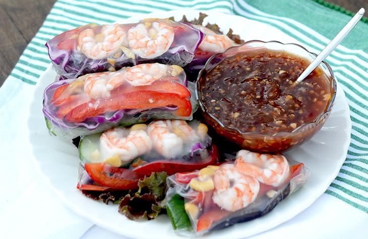 Summer Rolls with Tropical Sweet Chili Garlic Sauce Recipe