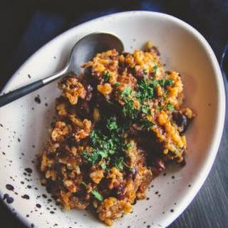 5 Ingredient Leftover Rice Chili.
