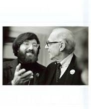 "Photo: Frank Kroncke & Dr. Benjamin Spock ""Minnesota 8"" fundriaser"