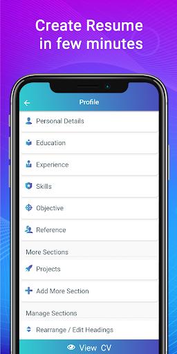 Resume Builder App Free CV maker CV templates 2020 screenshot 3