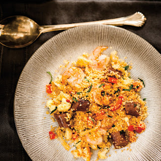 Shrimp and Merguez Couscous.