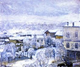 "Photo: Frederick Carl Frieseke, ""Paesaggio invernale"" (1931)"