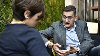 José Luis Sánchez Teruel, secretario provincial del PSOE durante la entrevista