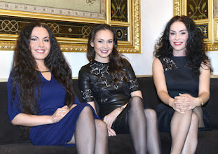 Photo: Wien/ Interview am 1.3.2016.Islayar Khayrullova, Aida Garifullina,  Margarita Gritskova. Copyright: Barbara Zeininger