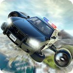 Flying Police Car Training Icon