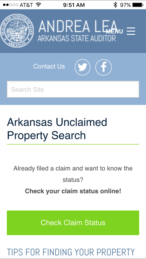 Unclaimed Property Search- screenshot
