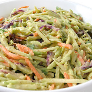 Super Low Calorie Honey Mustard Broccoli Slaw.