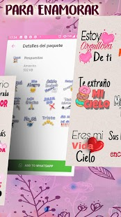 Stickers romanticos y frases de amor para WhatsApp Screenshot