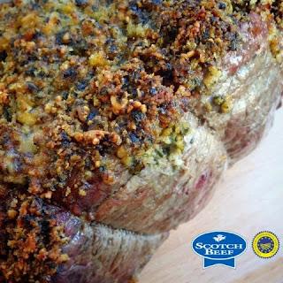 Spring Roast of Scotch Beef with a Wild Garlic Pesto Crust