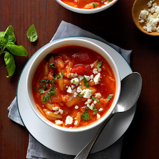Greek Tomato Soup with Orzo.