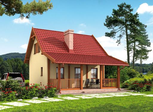 projekt Orlean 4 szkielet drewniany dom letniskowy z poddaszem użytkowym