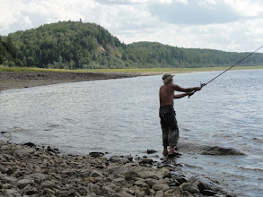 Photo: Рыбалка в заливчике на Оби.