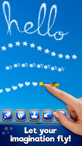 飛行機で空を描く