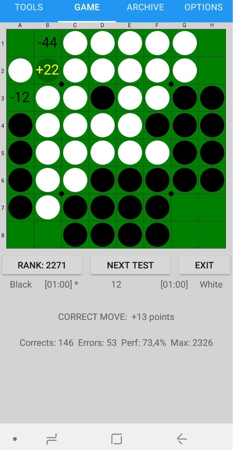 SaioApp - The strongest Othello engine Screenshot 1