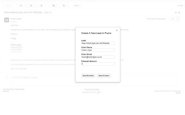 Flume CRM For Gmail