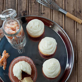 Ricotta Pound Cake Cupcakes with Whipped Ricotta Frosting.