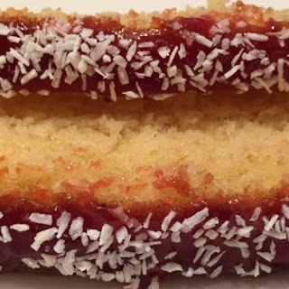 Traditional Jam and Coconut Sponge.