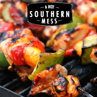 Spicy BBQ Bacon Chicken Kabobs