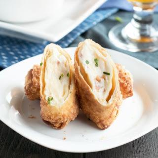 Loaded Mashed Potato Egg Rolls.
