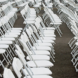 Have A Seat by Corinne Hall - Artistic Objects Other Objects ( white, patterns, chairs, outdoors., abstract,  )