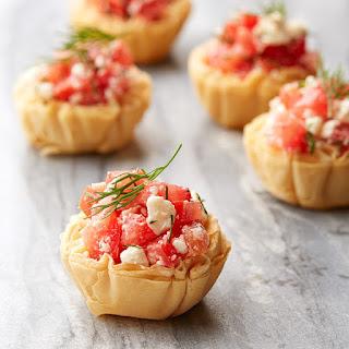 Crispy Tomato and Feta Phyllo Tartlets