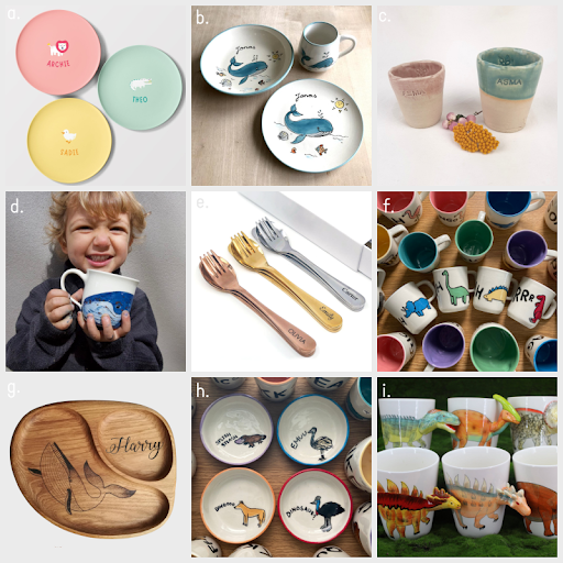 Children's Ceramic Cups and Plates + More ❤️