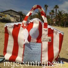 Photo: beach hut bag