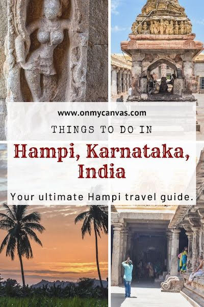 places to see in hampi pinterest image
