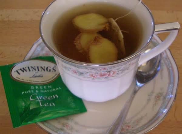 Hot Green Tea With Ginger Recipe