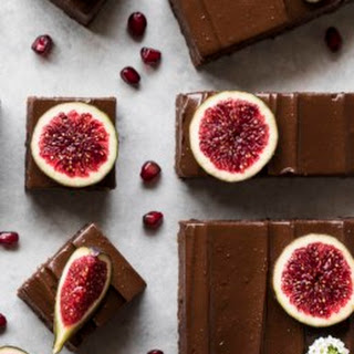 Raw Brownies with Avocado Frosting & Figs.