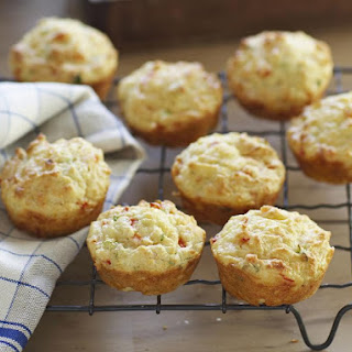 Cheddar and Red Pepper Buttermilk Muffins.