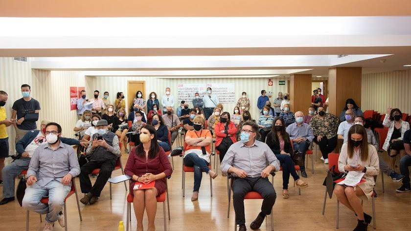 Acto en la sede del PSOE.