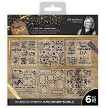 Sara Davies Black & Gold 6x6 Foil Transfers