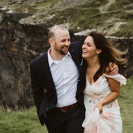 Laugh with me by Paul Duane - Wedding Bride & Groom ( bride, groom, happy, wedding, ireland )