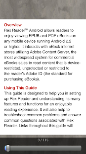 Rex eReader- screenshot thumbnail