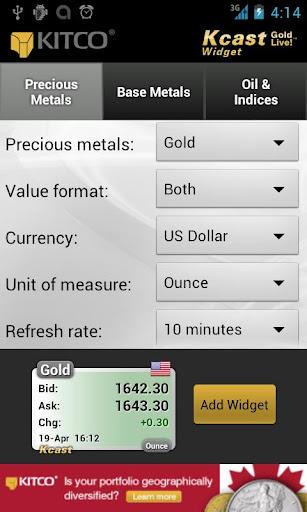 Gold Live Widget Price Silver S On