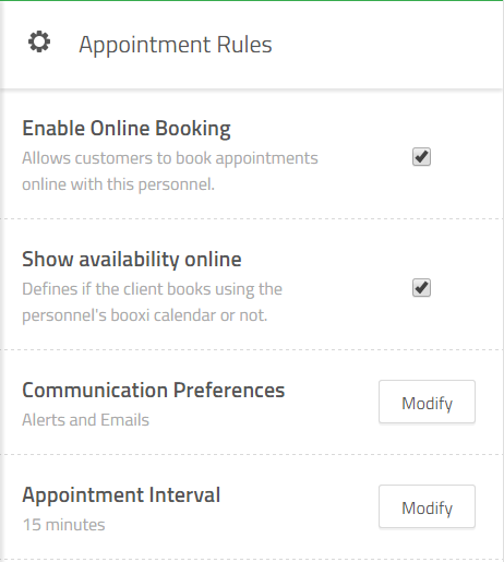 appointment rules per personnel