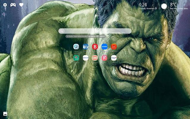 Hulk Marvel New Tab Wallpapers HD
