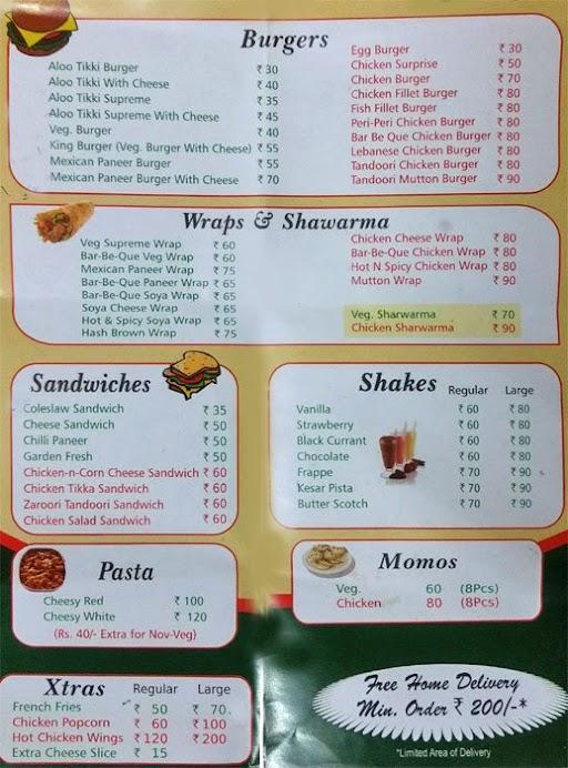 Burger Xpress menu 1