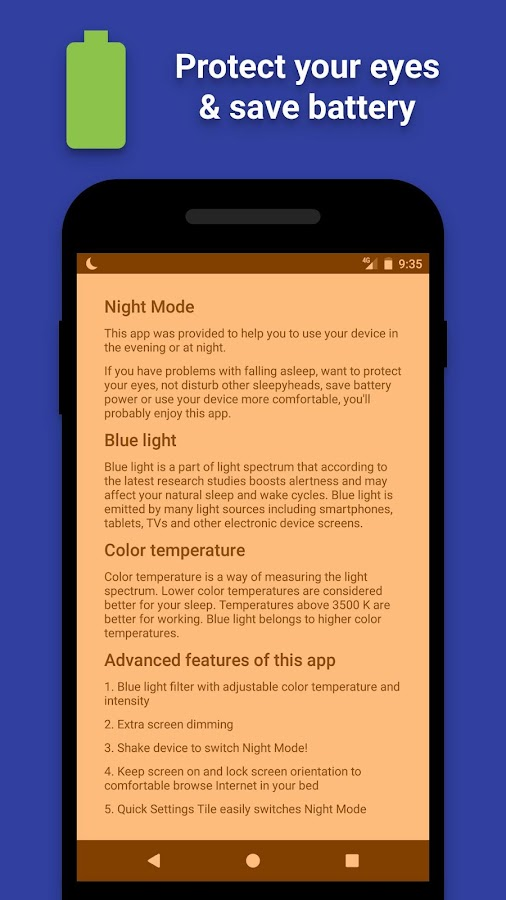 Night Mode - Blue Light Filter- screenshot
