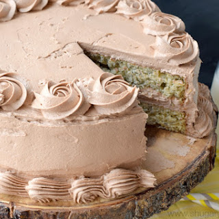 Banana Cake with Nutella Frosting.