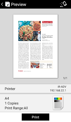 Canon PRINT Business screenshot
